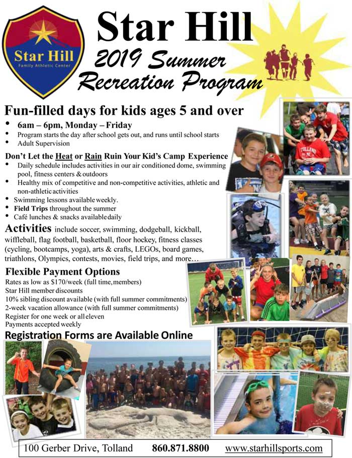 2019 Summer Rec Camp-Program Flyer